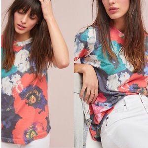 Anthropologie SOL Angeles Floral Multi Color Shirt